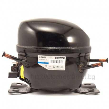 Компресор за хладилник,  фризер, витрина, охладител и друга хладилна техника Sikelan MK-ADW86 200W фреон R134a