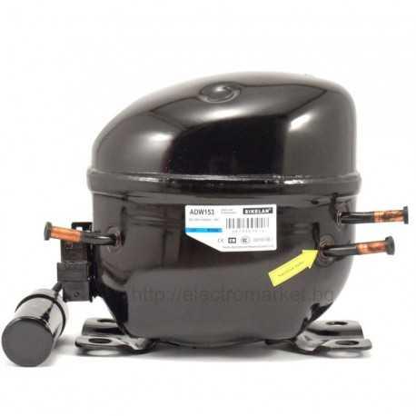 Компресор за хладилник, фризер, витрина, барплот, хладилен шкаф и друга хладилна техника Sikelan WQ-ADW153 380W фреон R134a