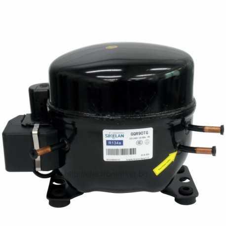 Компресор за хладилна витрина WZ-GQR90TG, хладилен агент R134a, среднотемпературен